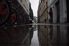 Hamburg. Mirror effect hamburg royalty free stock photos