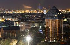 Hamburg nachts Lizenzfreies Stockbild