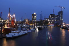 Hamburg in night Stock Photos