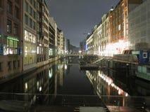 Hamburg by night Royalty Free Stock Photo