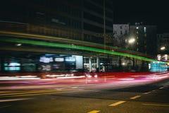Hamburg Night time exposure Germany Laser Car stock images