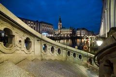 Hamburg at night Royalty Free Stock Photo