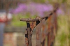 Hamburg - Old handrail at the warehouse district Stock Photo