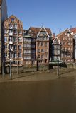 Hamburg - Old houses at the Nicolai Fleet Royalty Free Stock Images