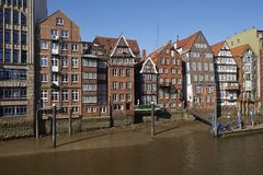 Hamburg - Old houses at the Nicolai Fleet Royalty Free Stock Photos
