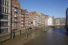 Hamburg - Old houses at the Nicolai Fleet Stock Photos