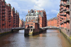 Hamburg Old Town Royalty Free Stock Photography