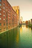 Hamburg, old warehouses at Bahnhofs canal Stock Photography