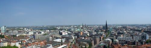 hamburg panorama Arkivbilder
