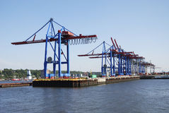 Hamburg port Royalty Free Stock Photos