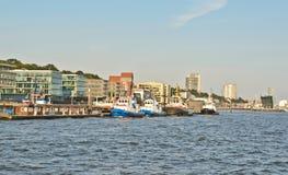 hamburg port Royaltyfri Foto