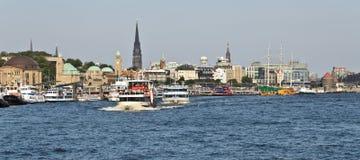 hamburg port Arkivbild