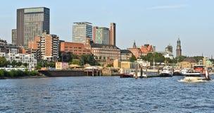 hamburg port Fotografering för Bildbyråer