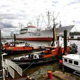 hamburg port obraz royalty free