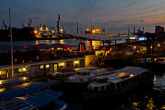 hamburg port Obraz Royalty Free