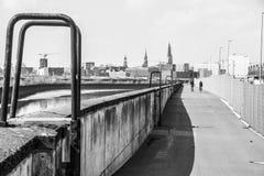 Hamburg port city. Look in the Hamburg port city Royalty Free Stock Image