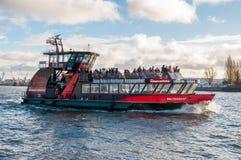 Hamburg port ferry Waltershof. Hamburg Germany - December 16. 2017: Hamburg port ferry Waltershof Stock Photo