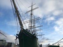 Hamburg port. Huge ship at Hamburg port Royalty Free Stock Photos