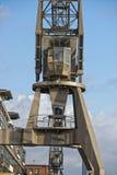 Hamburg port metal crane Royalty Free Stock Images