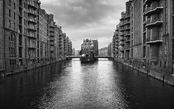 Hamburg port old canals Stock Image