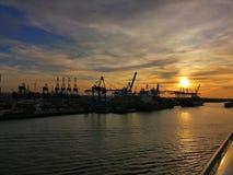 Sunset Hamburg royalty free stock photos