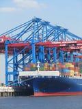 Hamburg port terminal Burchardkai Royalty Free Stock Photography