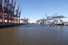 Hamburg - Port Waltershof Stock Image