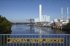 Hamburg - Power plant Tiefstack (coal) Royalty Free Stock Photos