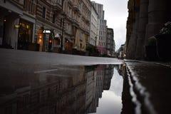 Hamburg. Rainy day in Hamburg royalty free stock photography