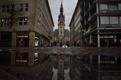 hamburg rathaus Royaltyfri Bild
