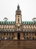 Hamburg Rathaus city hall hdr. HAMBURG, GERMANY - CIRCA MAY 2017: Hamburg Rathaus (city hall) in the Altstadt (old city), hdr Royalty Free Stock Photo