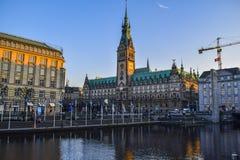 Hamburg Rathaus. Germany stock images