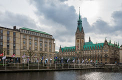 Hamburg Rathaus Town Hall Stock Images