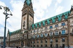 Hamburg Rathaus Town Hall on Rathausmarkt square Stock Photo
