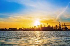 Hamburg and river Elbe royalty free stock image