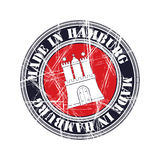 Hamburg rubber stamp. Hamburg city  grunge rubber stamp Royalty Free Stock Photography