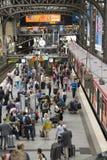 Hamburg`s Main Railway Station. Passengers boarding a train at Hamburg`s Main Railway Station Hauptbahnhof, Hamburg, Germany Royalty Free Stock Image