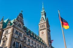 Hamburg sightseeing town hall Royalty Free Stock Photos