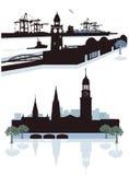 Hamburg Silhouette Stock Image