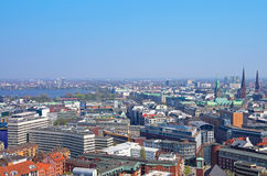 Hamburg skyline alster Royalty Free Stock Photo