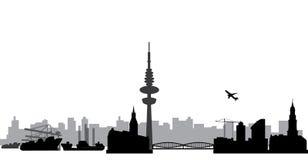 Hamburg skyline stock illustration