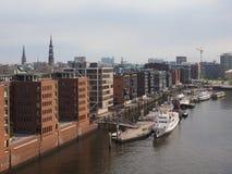 Hamburg skyline view Stock Image