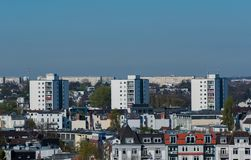 Hamburg skyline view from a roof.  royalty free stock images