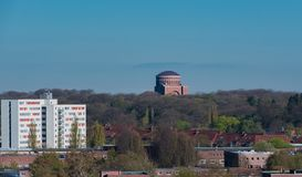 Hamburg skyline view from a roof.  royalty free stock photography