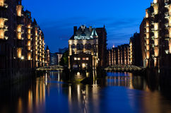 Hamburg Speicherstadt Arkivbild