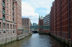Hamburg Speicherstadt royalty-vrije stock fotografie