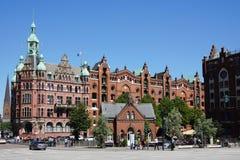Hamburg Speicherstadt with Fleetschlosschen Royalty Free Stock Photos