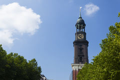 Hamburg St. Michaelis Church Stock Images