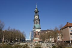 Hamburg - St. Michaelis Church (Michel) Royalty Free Stock Images