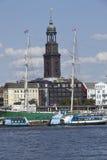 Hamburg - St Michaelis Kerk Stock Afbeeldingen